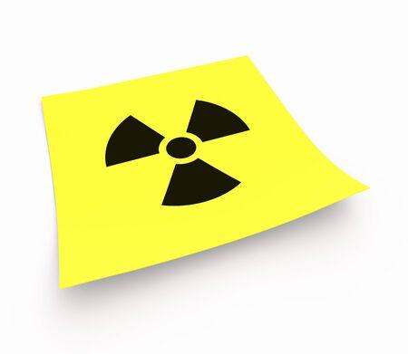 instruction sheet: Stickies - Radioactive Symbol Stock Photo
