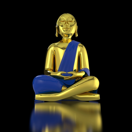chakra awareness: Big golden Buddha Stock Photo