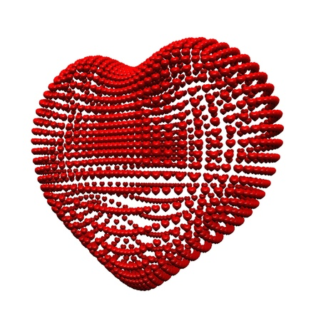 eroticism: 3D red heart hearts full of