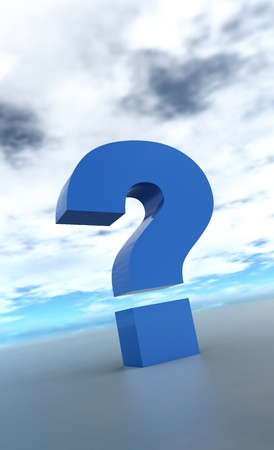 The big blue question mark Stock Photo - 14380777
