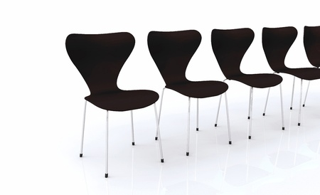 designer chair: Designer chair series - Black Silver Stock Photo