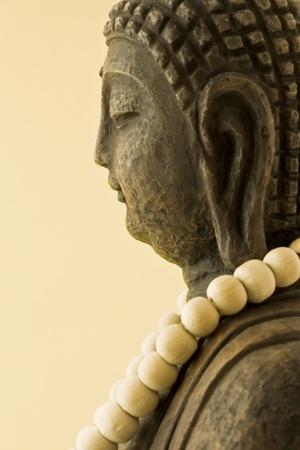 sandalwood: Buddha made of sandalwood mala chain