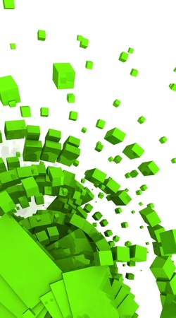 backplate: 3D Background - Green Cyberspace