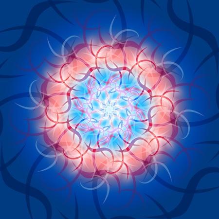 backplate:  Kosmic mandala Waves