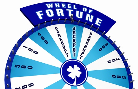 3D Wheel of Fortune - blue white 01 photo