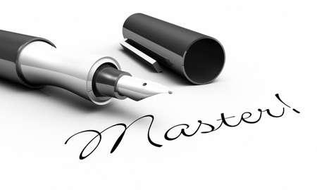 Master - Pen Concept Stock Photo - 14380970