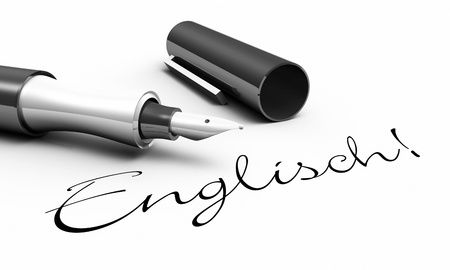 learning english: English - pen concept