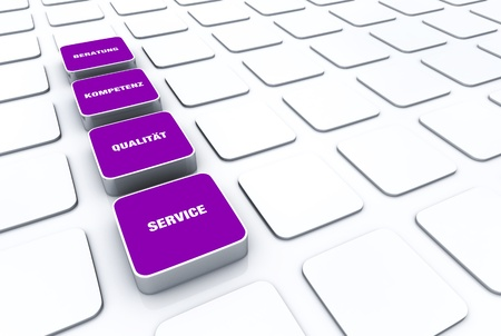 customercare: Violet cube concept - quality consulting expertise