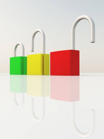 exempt: e-business - green, yellow, red
