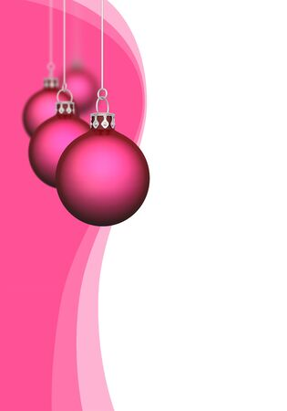 backplate: Christmas balls with waves of red
