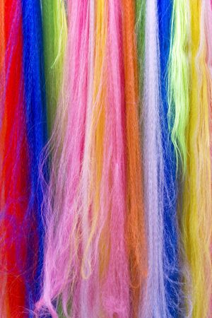 Background - Colorful fibers  photo