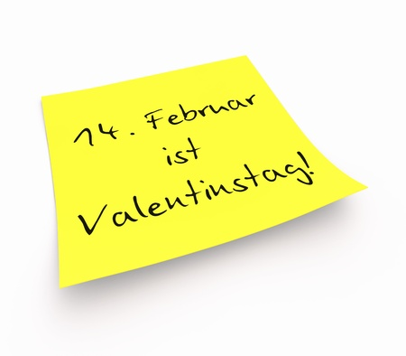 Sticky Notes - 14 February is Valentine s Day photo