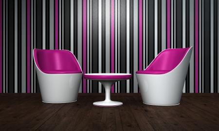 rosa negra: Relax Lounge de color rosa, negro, blanco