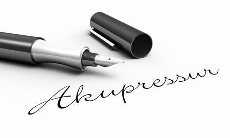 acupressure: Acupressure - pen concept Stock Photo