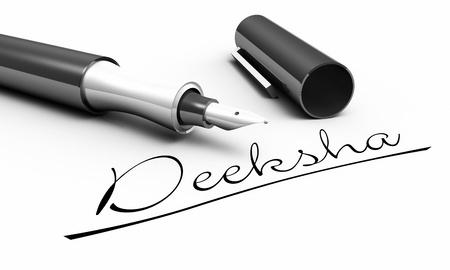 Deeksha - pen concept Stock Photo - 14401543