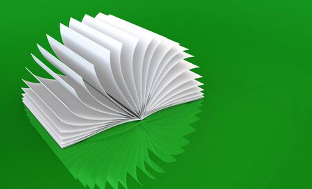 turn over: White Book on Green