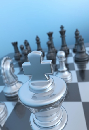 Pawn focus near Stock Photo - 14401607