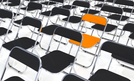 particularly: A folding chair in the amount of black and orange