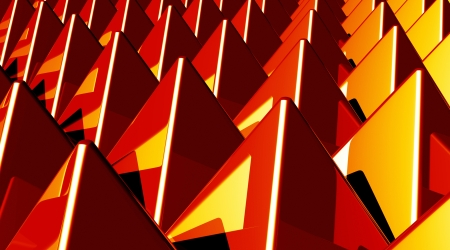 Background - Pyramids Red Yellow matrix photo