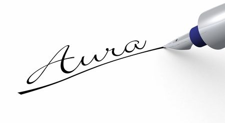 Pen Concept - Aura Stock Photo - 14447749