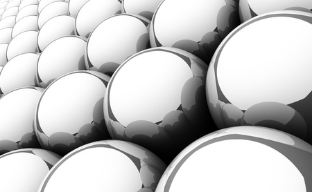 Silver reflection balls background  Stock Photo - 14452978