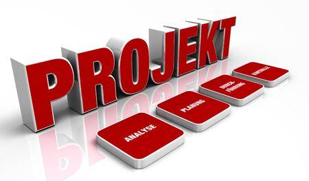 Concept de texte - 3D du projet Red 1