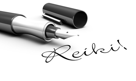 yoga to cure health: Reiki - pen concept