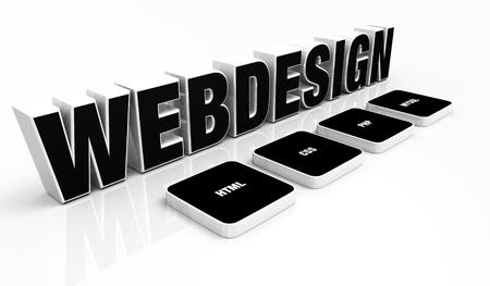 css: Web design portfolio concept Black