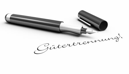 separation: Separation of property - pen concept Stock Photo