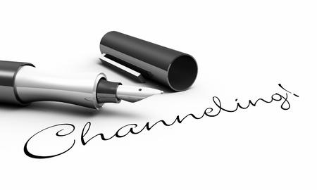 Pen Concept - Channeling Stock Photo