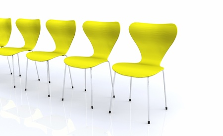 designer chair: Designer chair series - Yellow 2