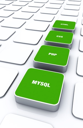 3D Designs Green - HTML CSS PHP MYSQL Stock Photo - 14447713