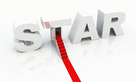 STAR 3D text with red carpet  photo