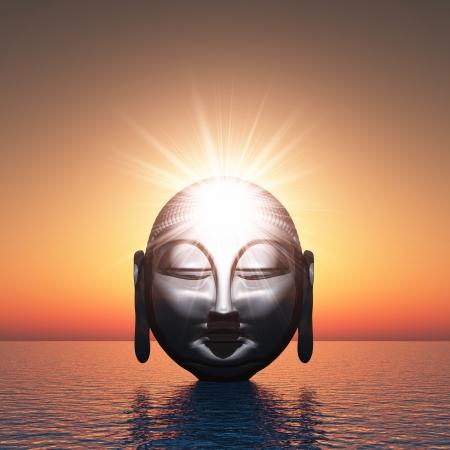 moine: Bouddha - L'eau l'éveil spirituel