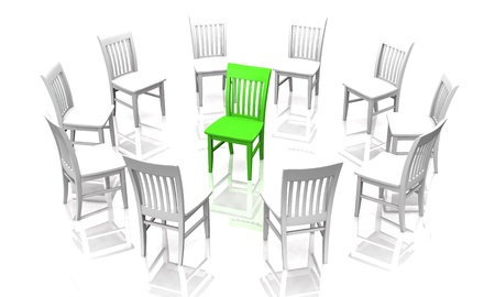 The Interrogation - White Green Stock Photo - 14453146