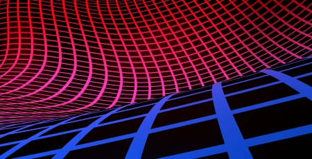 Grid background blue red on black Stock Photo - 14453210