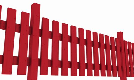 3D wooden fence - free red  photo