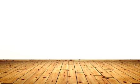 pisos de madera: Las paredes blancas con piso de madera de pino de piedra -