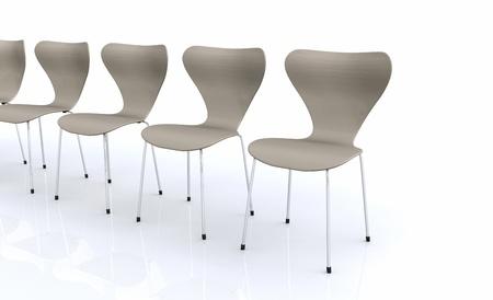 Designer chair series - Beige Stock Photo - 14453158