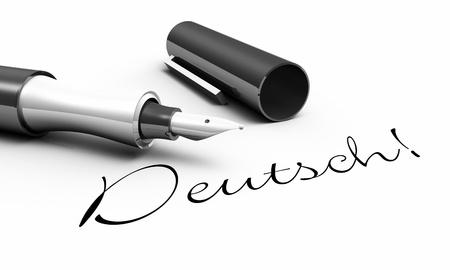 German - pen concept Reklamní fotografie