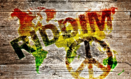 rasta: Wood Sign - RIDDIM World for Peace