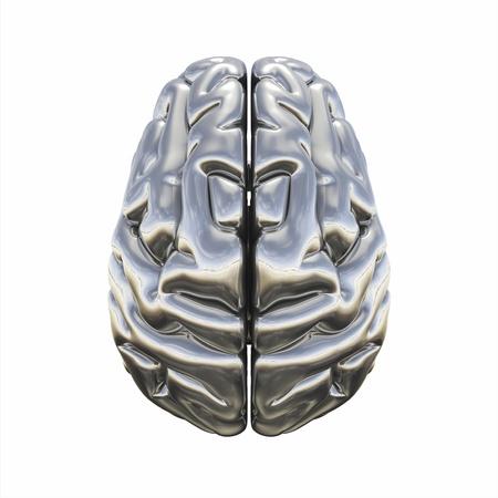 chrome man: Chrome Brain - top view