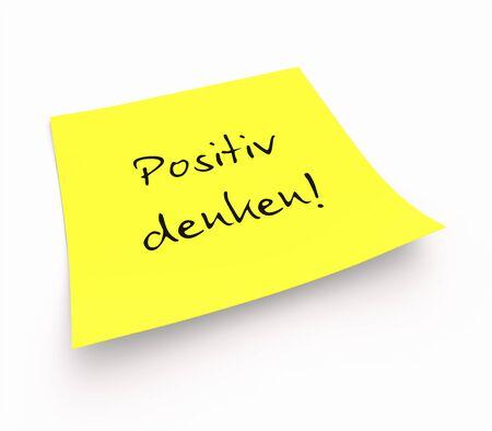 Stickies - Positive thinking photo