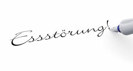 disturbance: Pen Concept - Eating Disorder Stock Photo