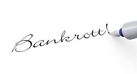 owe: Pen Concept - bankruptcy