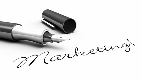data distribution: Marketing - stick approach Stock Photo