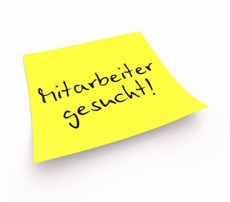 stickies: Stickies - Work with us Stock Photo