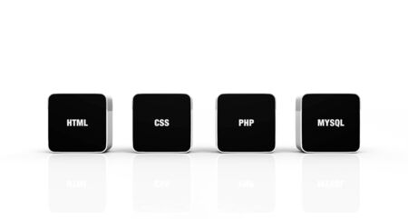 3D black and white pads - HTML CSS PHP MYSQL photo