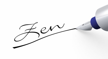 Pen Concept - Zen underlined Stock Photo - 14548067