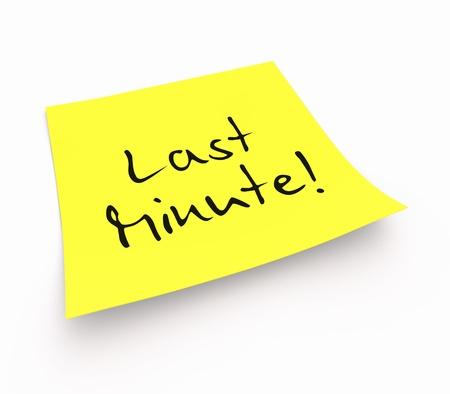 minute: Stickies - Last Minute